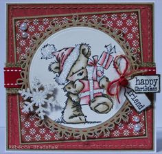 James Pile of Presents with Simple Joys papers and Sentiment Tags