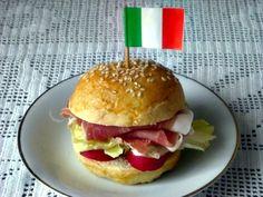 Panino del Tifoso (italiano) realizzato con il Panino Soffice al Latte