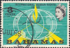 Postage Stamps Bahamas 1968 Human Rights Year SG 313 Fine Used For sale Take a Look