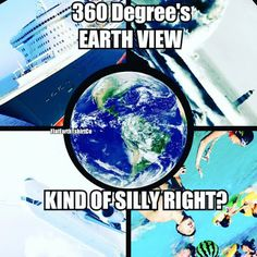 If we weren't clouded by the earth's atmosphere and our visual illusions, what would earth really look like!?  FLAT EARTH FUN