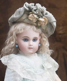"18 1/2"" (47cm) Antique French Gorgeous Bisque Bebe Doll Earliest from respectfulbear on Ruby Lane"