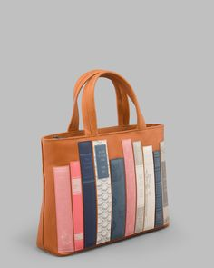 Bookworm Tan Leather Grab Bag c