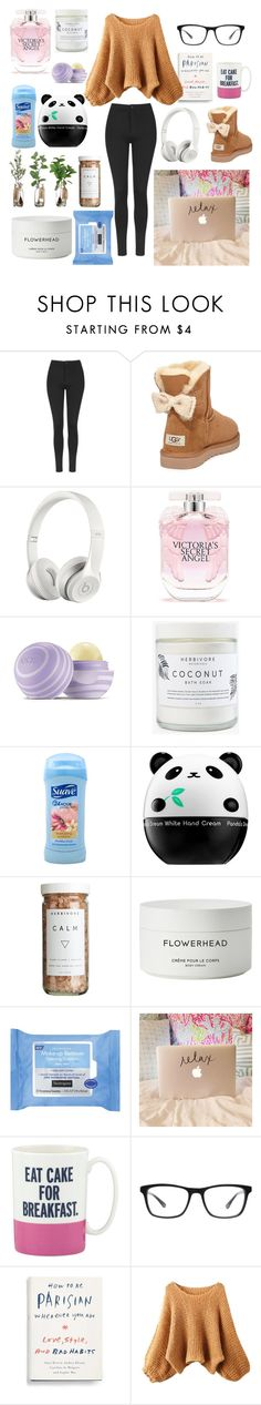 """""""Chill day"""" by yele-fernandez ❤ liked on Polyvore featuring Topshop, UGG Australia, Beats by Dr. Dre, Victoria's Secret, Eos, Suave, Tony Moly, CB2, Byredo and Neutrogena"""