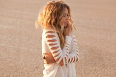 diy inspiration---slits down sweater arms