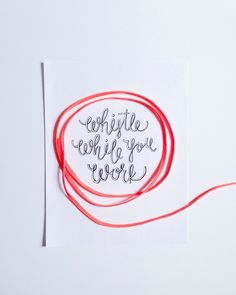 Handlettering by Courtney Shelton | HIBRID