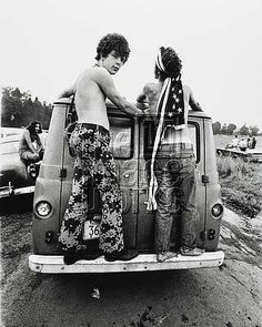 Bethel, NY: Woodstock Rock Festival: 1969. Attendees arriving at the festival looking for a place to park. ©Michael Fredricks / The Image ...