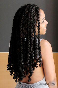 Summer/Vacation Hair: Marley Twists + Tutorial Video | Lauren Mechelle
