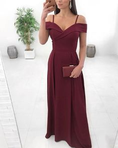 Burgundy Side Slit Simple Cheap Long Party Prom Dresses,Off the Shoulder Evening Formal Dress · SofieDress · Online Store Powered by Storenvy A Line Prom Dresses, Tulle Prom Dress, Cute Dresses, Evening Dresses, Party Dress, Formal Dresses, Wedding Dresses, Homecoming Dresses, Long Bridesmaid Dresses