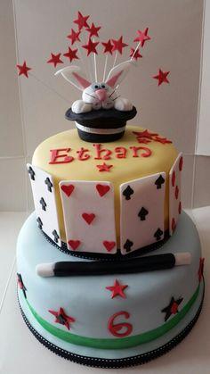 Magic themed 2 tier birthday cake