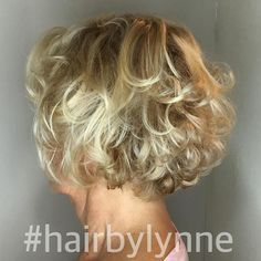 Short Curly Blonde Hairstyle For Over 60 - Hairstyles Short Blonde Curly Hair, Short Hair Cuts, Curly Hair Styles, Curly Bob, Blonde Curls, Curls Hair, Pixie Cuts, Wavy Hair, Thick Hair