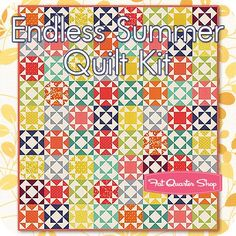 Endless Summer Quilt Kit<br/>Featuring Simply Colorful by V