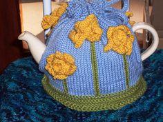 ❄Crochet Tea Cosies, Mug Hug Snugs and Cuppa Cosies.    Daffodil tea cosy