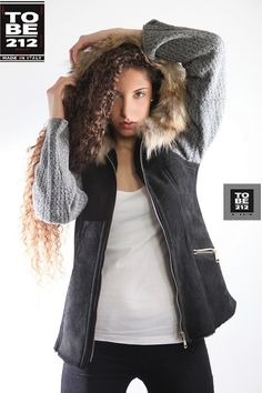 HG LEATHER SHEARLING WITH WOOL COLOUR GRAY NAPPA SOFT LUX WITH MURMUSKY