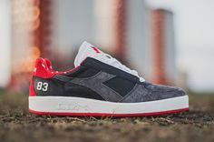 """KIX & LIDZ: hanon x Diadora B.Elite """"The Spirit Of '83 Final""""...In 1983, Aberdeen FC won the European Cup Winner's Cup, taking out powerhouse teams like Real Madrid and Bayern Munich. In 2015, hanon celebrated the glory of the victory with an edition of the B.Elite tennis shoe as The Spirit Of '83."""