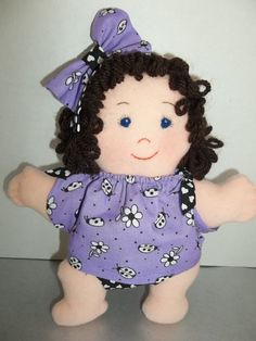 Cloth Doll PDF Pattern Dozie Rosie Asleep Awake by PeekabooPorch, $9.00