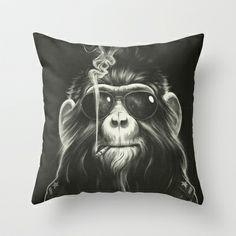 Smoke 'Em If You Got 'Em Throw Pillow by Dr. Lukas Brezak - $20.00