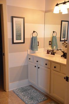 bathroom decor, painted stripes... JLM moments