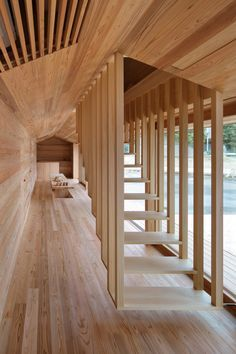 12 Futuristic Houses by Japanese Architects Architectural Digest Yoshino-sugi Cedar House. Architect Go Hasegawa collaborated with San Francisco–based company Airbnb to craft this two-story dwelling, clad in Yoshino cedar, as a combination community cen Baroque Architecture, Interior Architecture, Interior And Exterior, Interior Design, Futuristic Architecture, Room Interior, Singapore Architecture, Modern Japanese Architecture, Stairs Architecture