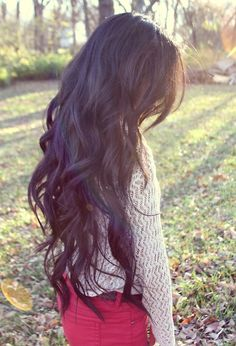 Long dark wavy hair