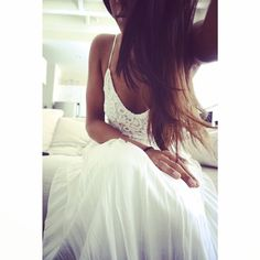 The Perfect Crocheted Ivory Maxi Dress