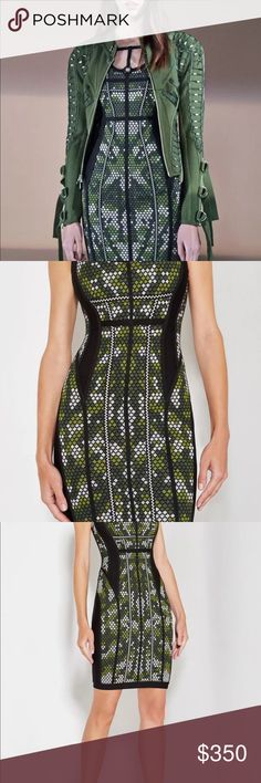 NWT Herve Leger 'Alessandra' Bodycon Dress $1399 NWT FALL 2017 HERVE LEGER BANDAGE DRESS  MSRP $1399.00  SIZE MEDIUM Herve Leger Dresses Mini