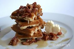 Bacon Maple Waffles...these are BOMB!!!!