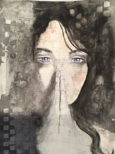 """""""Forgiveness"""" Mixed Media on watercolour paper by Linda Cooke"""