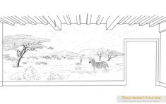 Safari Wall Mural drawing