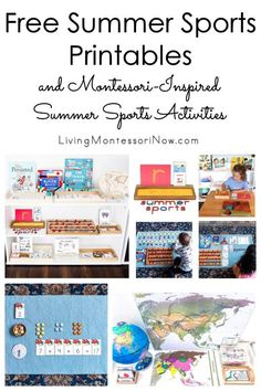 Free summer sports printables and Montessori-inspired summer sports activities for multiple ages; perfect for home or classroom, especially during an Olympic year - Living Montessori Now Free Summer, Summer Fun, Sports Activities, Activities For Kids, Character Education Lessons, Sand Writing, Homeschool Curriculum, Homeschooling, Tracing Shapes