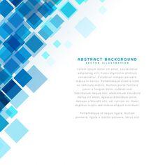 Fondo plantilla de cuadrados azules Vector Gratis