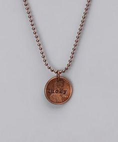 Take a look at this Copper 'Lucky' Penny Necklace by Five Little Birds Jewelry on #zulily today!