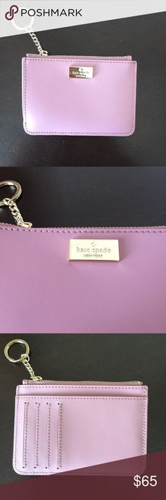 "♠️NWT Kate Spade Bitsy Wallet Card Holder NEW WITH TAGS. Authentic Kate Spade Bitsy Arbour Hill wallet/card/money holder. Pockets on the back. Zip Top Closure. 5"" x 3 1/2 "". Light pink color. kate spade Bags Wallets"