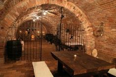 Wine cellar, Old World style. dad would love this @Ann Lavin