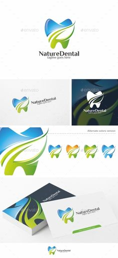 Nature Dental / Teeth - Logo Template Vector EPS, AI Illustrator. Download here: https://graphicriver.net/item/nature-dental-teeth-logo-template/13295376?ref=ksioks