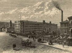 Fabrica Bonaplata: En 1832 en Barcelona se crea esta fábrica textil que fue la primera industria en España movida por el vapor
