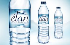 Elan Mineral Water on Packaging of the World - Creative Package Design Gallery Water Packaging, Juice Packaging, Beverage Packaging, Giada De Laurentiis, Under Sink Water Filter, Natural Mineral Water, Drinking Water Bottle, Agua Mineral, Bottle Images