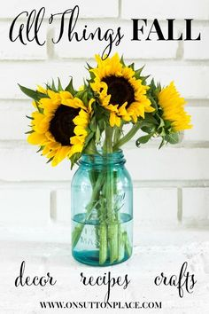 50 DIY ideas for fall, including decor, recipes, crafts, and more. Diy Spring, Fall Diy, Fall Crafts, Holiday Crafts, Decor Crafts, Pots, Ball Jars, Fall Is Here, Fall Projects