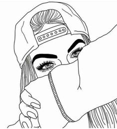 dessins de fille tumblr | art, black and white, cool, doodle, drawing, easy…