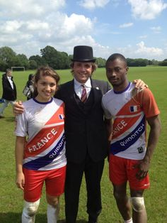 The Commissioner and France quidditch players