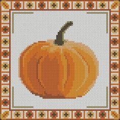 Pumpkin Pillow Free cross stitch pattern
