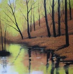 """""""Autumn River Scene"""" by Terry Wood"""