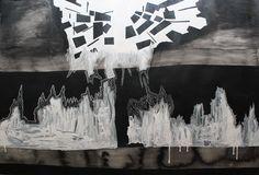 SIN TÍTULO Autor: Pablo Dainzú Técnica: mixta: lápices, tintas y acrílicos sobre papel. Medidas: 70 x 100 cm.