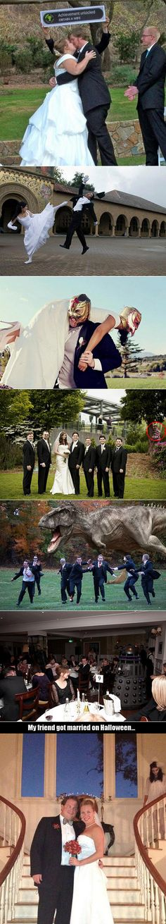 Here are some of the most creative and geekiest wedding pictures in the world.