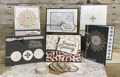 Guess what happens when you marry an amazing bundle with gorgeous accessories from the Year of Cheer product suite?   You get an irresistible blend of possibilities that will have your creative juices flowing for a LONG time! To get you started, I have this Snowflake Sentiments class for you. …