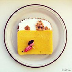toast art andrew wyeth christina world   Toast Art   toast sandwich photo peinture image Ida Skivenes classique