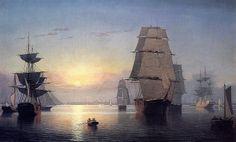 Fitz Hugh Lane - Boston Harbor at Sunset