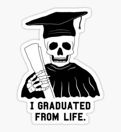 Stickers featuring millions of original designs created by independent artists. Bubble Stickers, Meme Stickers, Printable Stickers, Laptop Stickers, Graduation Stickers, Graduation Party Decor, Graduation Images, Graduation Ideas, Graduation Wallpaper