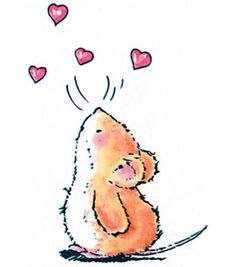 "Penny Black Rubber Stamp 2.25""X3""-Mouse Love"