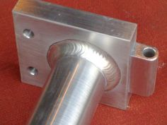 Aluminium extrusions can be welded. It is common on high end mountain bikes. But it is difficult to do well. Simply because aluminium has a very low melting point and become weak with heat. Metal Extrusion, Metal Shaping, Portfolio Examples, Welding, Close Up, Door Handles, Melting Point, Canning, Website