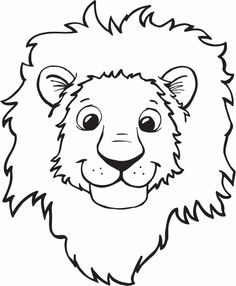 free printable lion coloring pages for kids clipart best